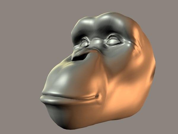 3dsmax chimpanzee character animation