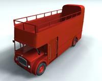 3d english bus model