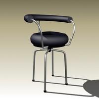 3d model le corbusier chair