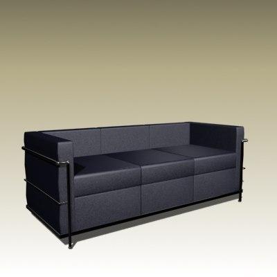 3d le corbusier model