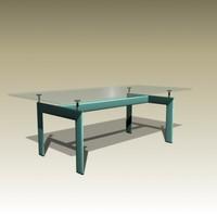 3d le corbusier table tube
