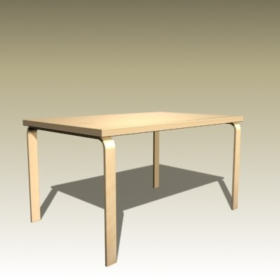 3d alvar aalto table model