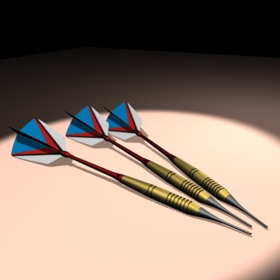 3d throwing darts model