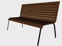 3d park bench model