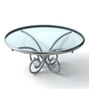 glass end table 3d model