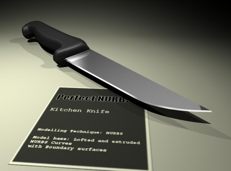 3d meat knife model