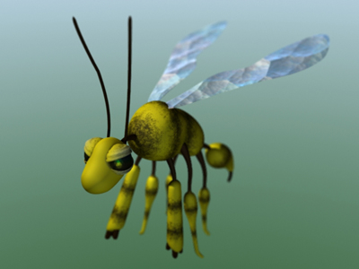 cartoony yellowjacket 3d lwo