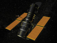 realistic hubble telescope 3d model