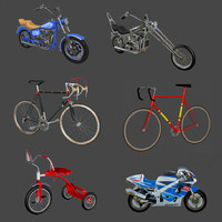 imagination cycles bicycle motorcycle 3d model