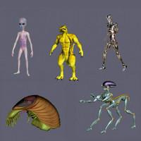 aliens e 3d model