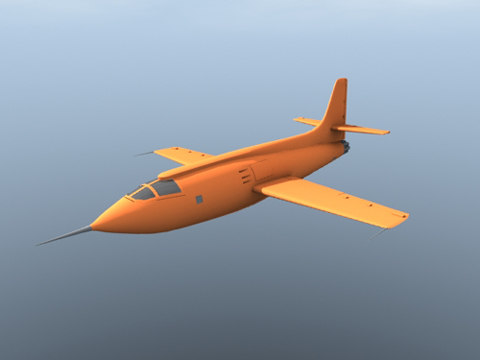 x-1 yeager 3d model