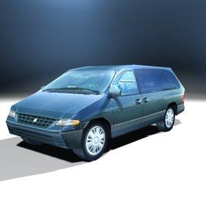 3d family van model