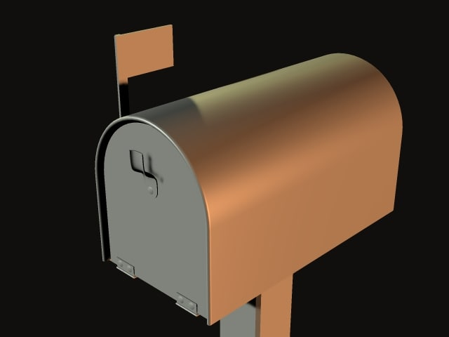 3d model mail mailbox