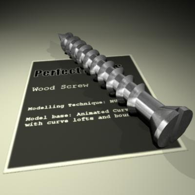 3d model wood screw