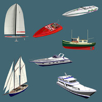 7 Boat Collection 3ds