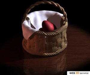 easter basket 3d max