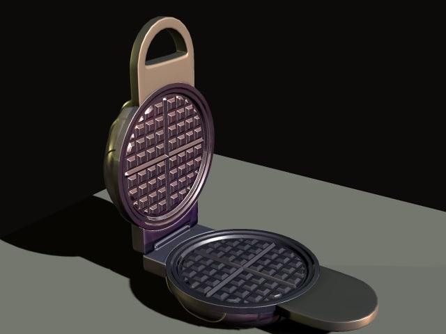 waffle iron 3d model