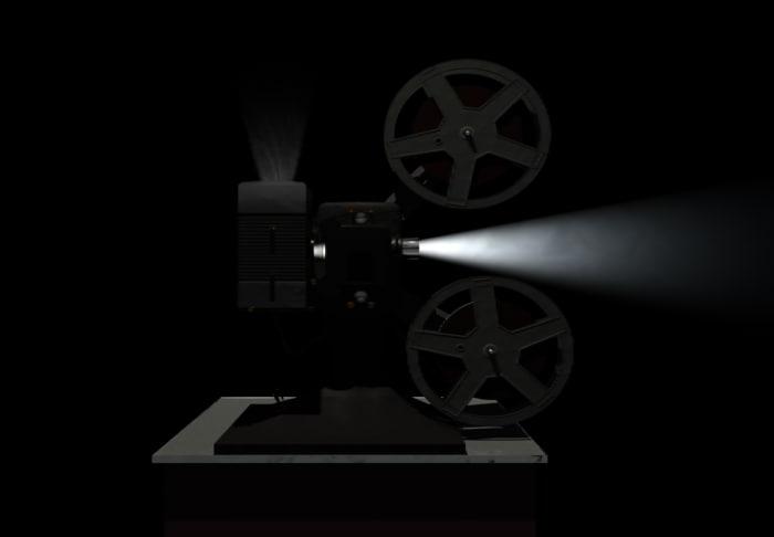 vintage film projector 3d lwo