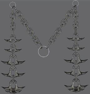 3d model spiked chain d weapon