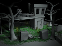 halloween scene 3d ma