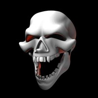 free max model cartoon skull