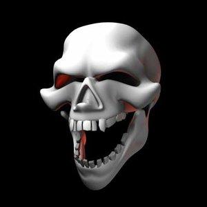 free max model cartoon skull
