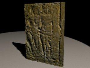 museum relief 3d max