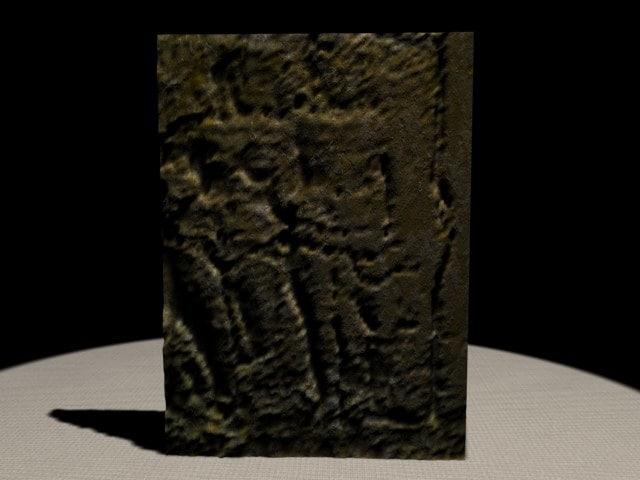 3d model museum artifact relief
