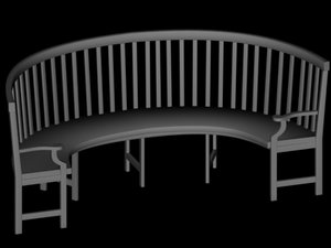 bench furniture chair max
