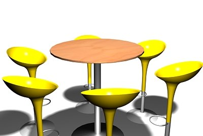cool stools table 3d max