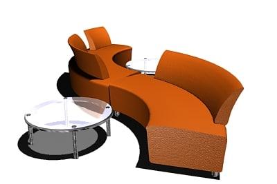 boss adda sofa 3d model