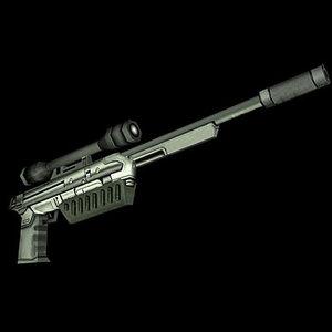 futuristic sniper rifle 3d model