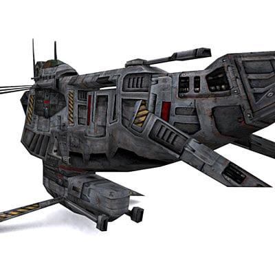 3ds max spaceship space