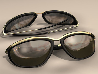 ray-ban sunglasses 3d model