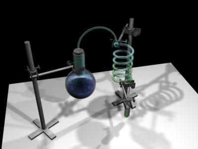 3d model distiling laboratory