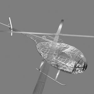cayuse helicopter 3d model