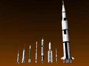 3ds max nasa rockets