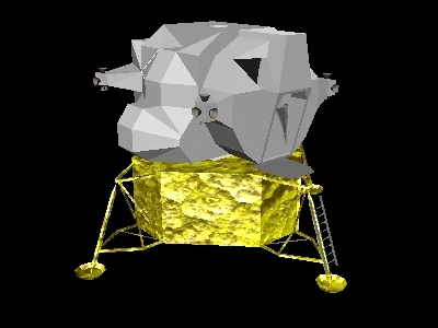 apollo lunar spacecraft 3d model