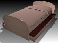 3d bed bedroom model