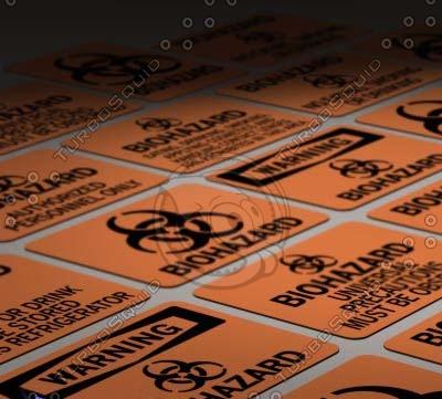 osha biohazard signs 3d model