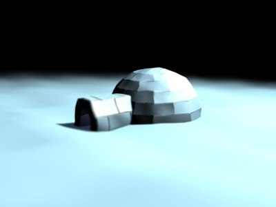 ice eskimo igloo 3d max