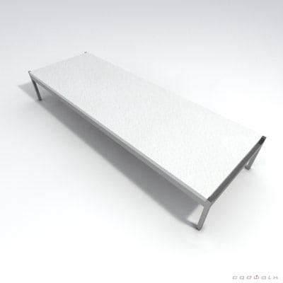 poul kjaerholm pk63 table 3d max
