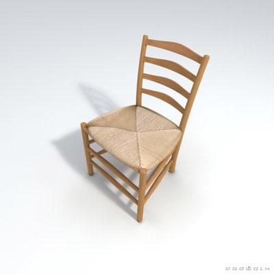 kaare klint church chair 3d model