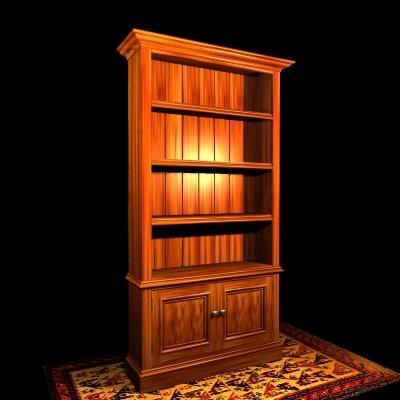 3d model bookcase
