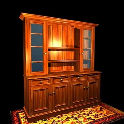 hutch dresser 3d model