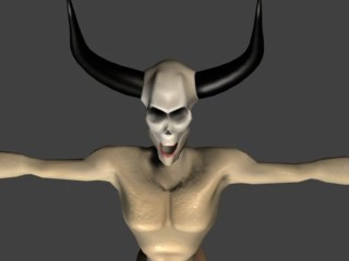 free max model demon monster character