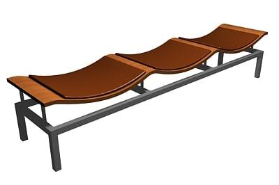 3d model cool waiting chair
