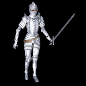 poser armored knight poser human