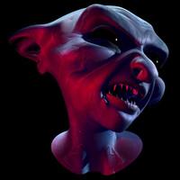 bone character skin 3d model