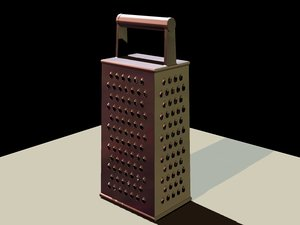 3d model grater